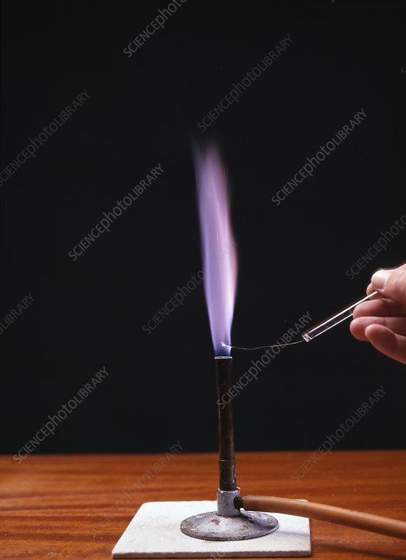 potassium flame test - stock image a510  0234