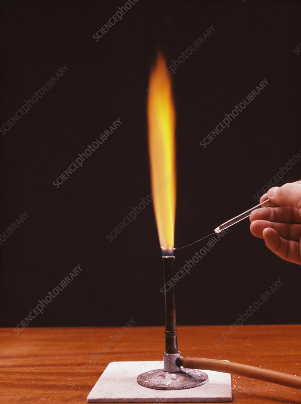 Calcium flame test