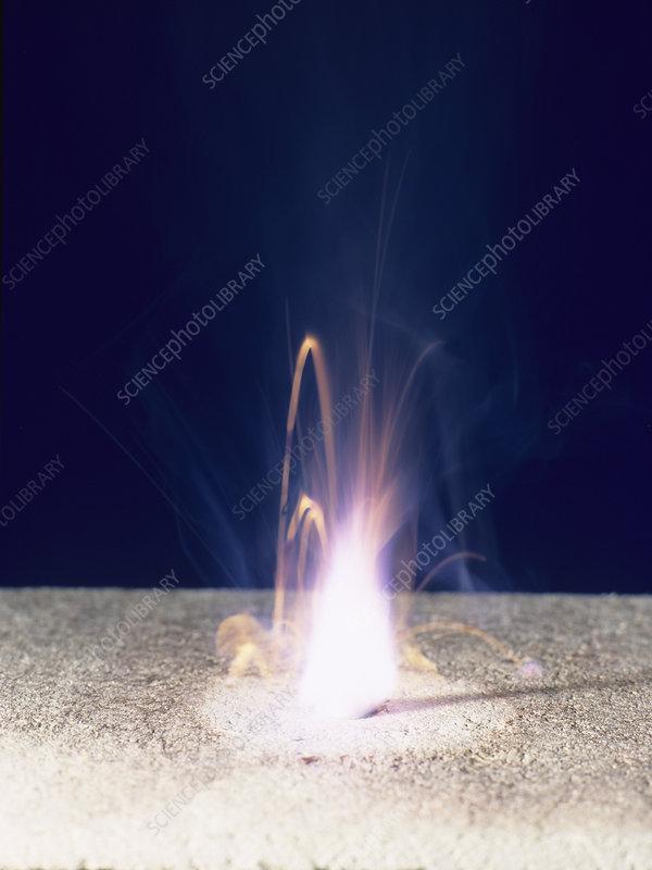 Potassium burning
