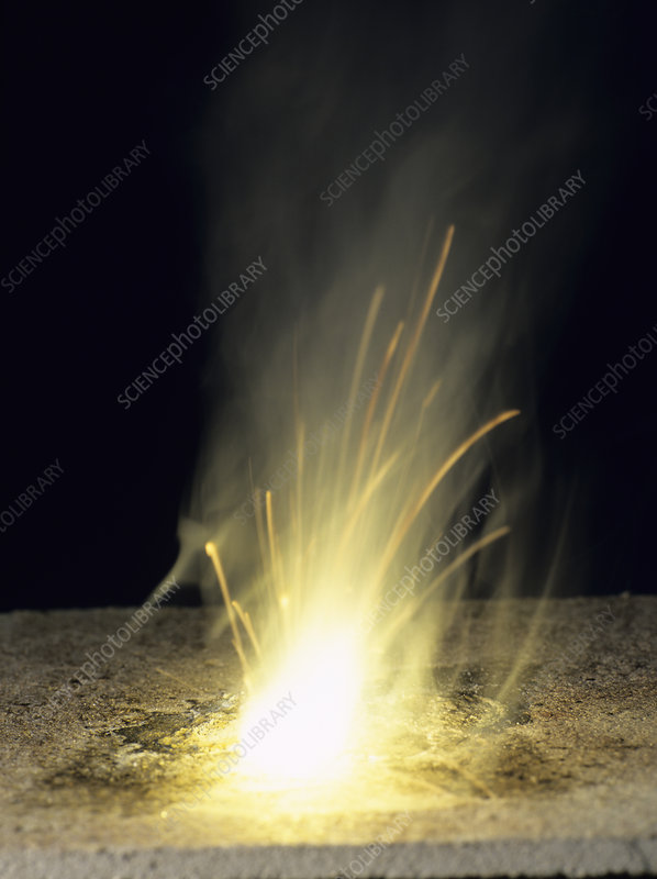 Sodium burning in air