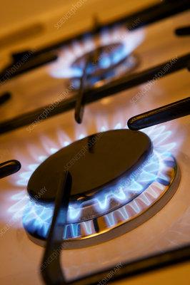 Lit gas rings