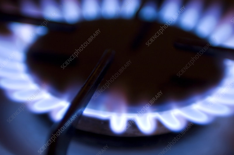 Lit gas ring