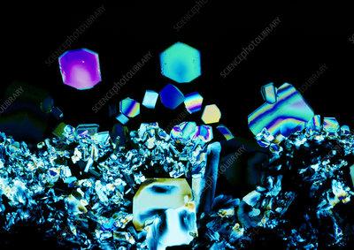 Sodium tetraborate crystals