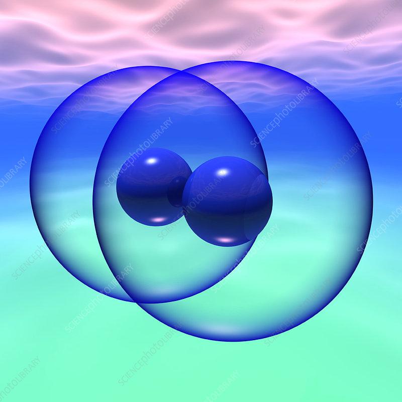 Nitrogen molecule - Stock Image A602/0079 - Science Photo ...