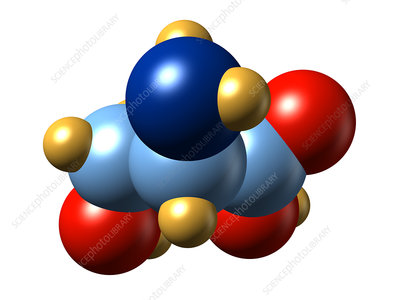 Serine, molecular model
