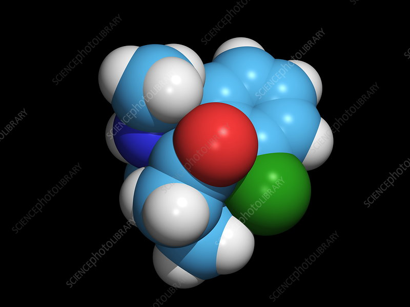 Ketamine molecule, recreational drug