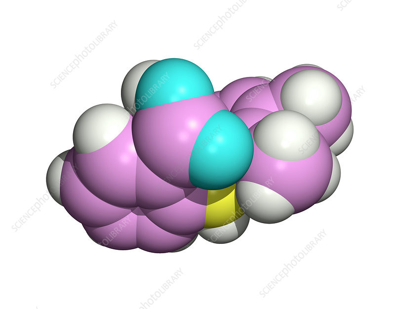 Mefenamic acid drug molecule