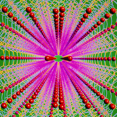 Molecular graphic of a zeolite crystal