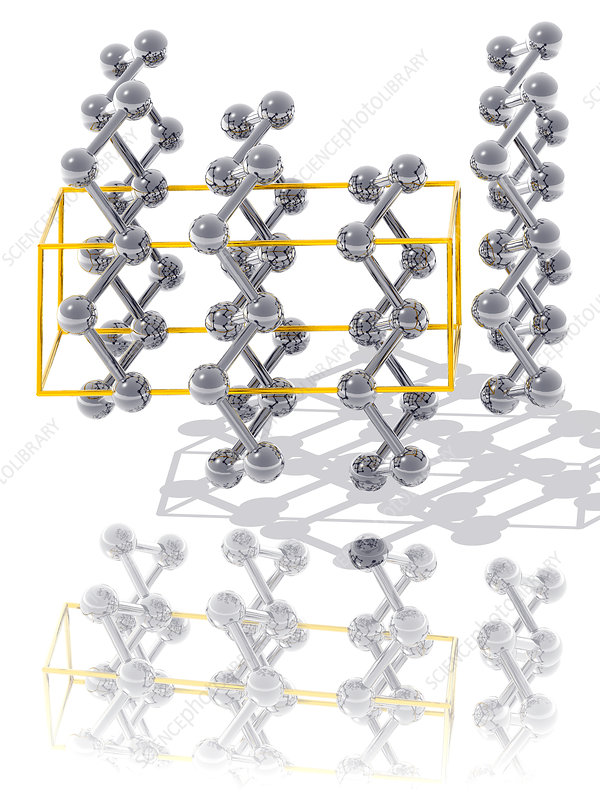 Arsenic crystal structure - Stock Image - A632/0050