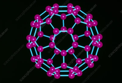 Computer graphics image of C60 fullerene