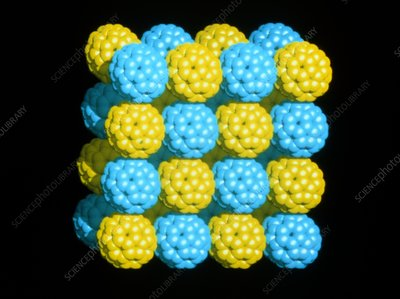 Packed C60 Buckyballs
