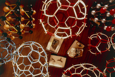 Fullerene models in a laboratory