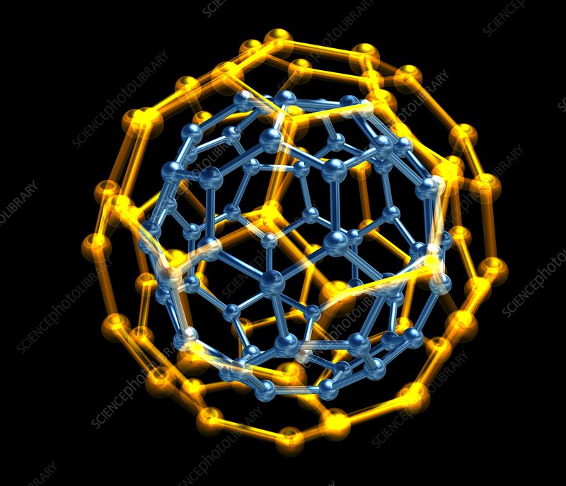 Nested fullerene molecules