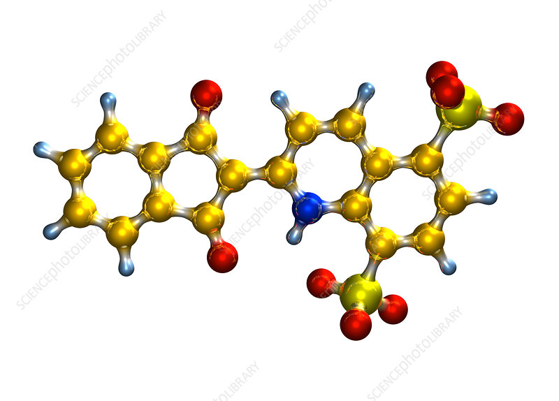 Quinoline Yellow food colouring molecule