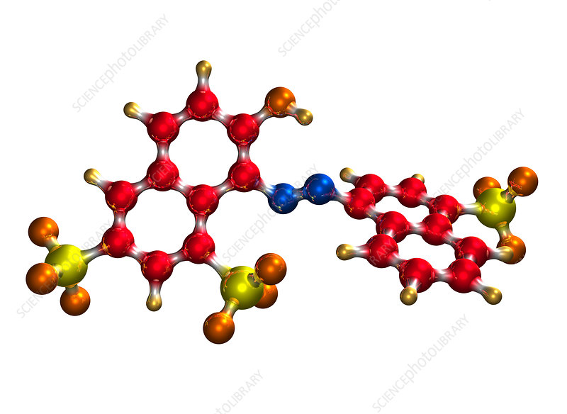 Ponceau Red food colouring molecule - Stock Image - A700/0348 ...