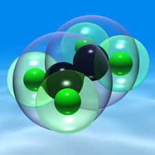 Ethylene, molecular model