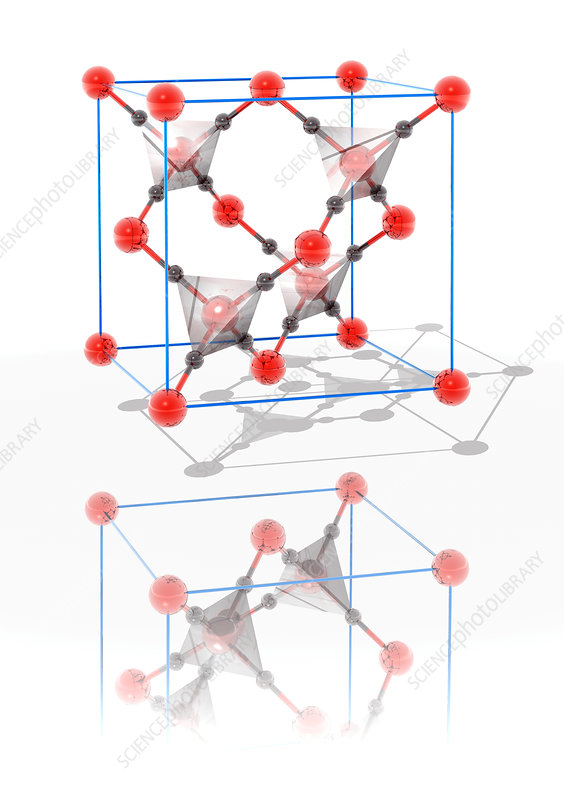 Cristobalite crystal structure