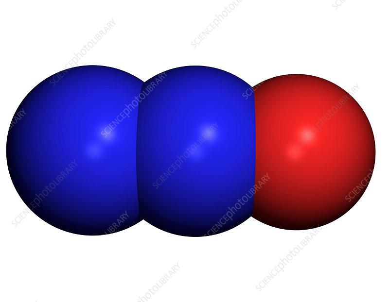 nitrous oxide molecule stock image a710 0098 science photo library. Black Bedroom Furniture Sets. Home Design Ideas