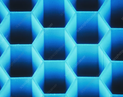 Honeycomb micro- structure made of PMMA