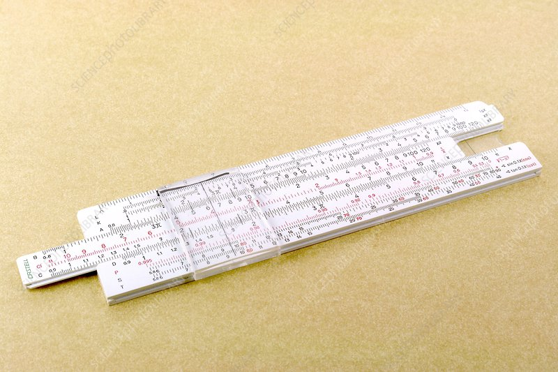 Logarithmic slide rule