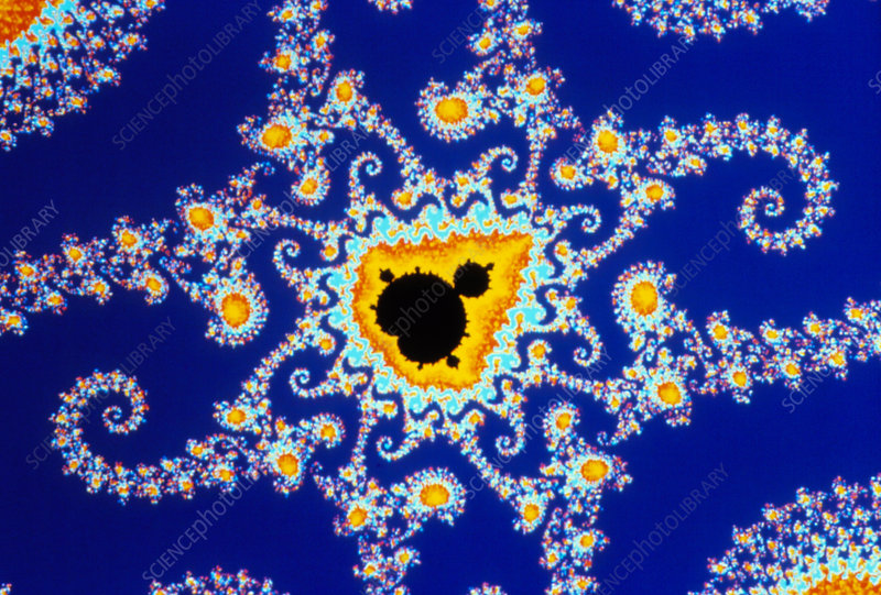 Fractal geometry showing Mandelbrot set