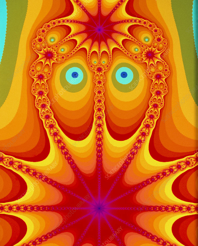 'Owlman from Space', Newtonian fractal