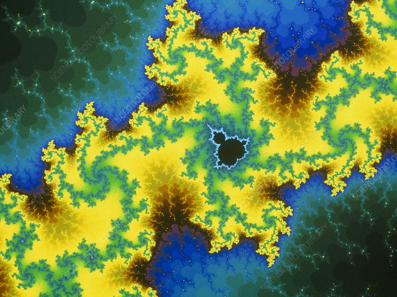 Mandelbrot fractal detail: 'Corridor of Power'