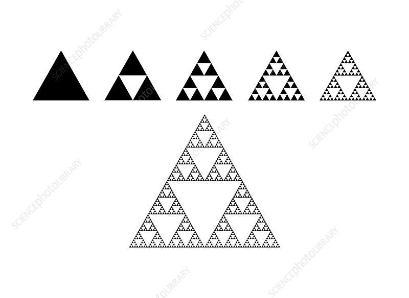 Sierpinski triangle, fractal pattern