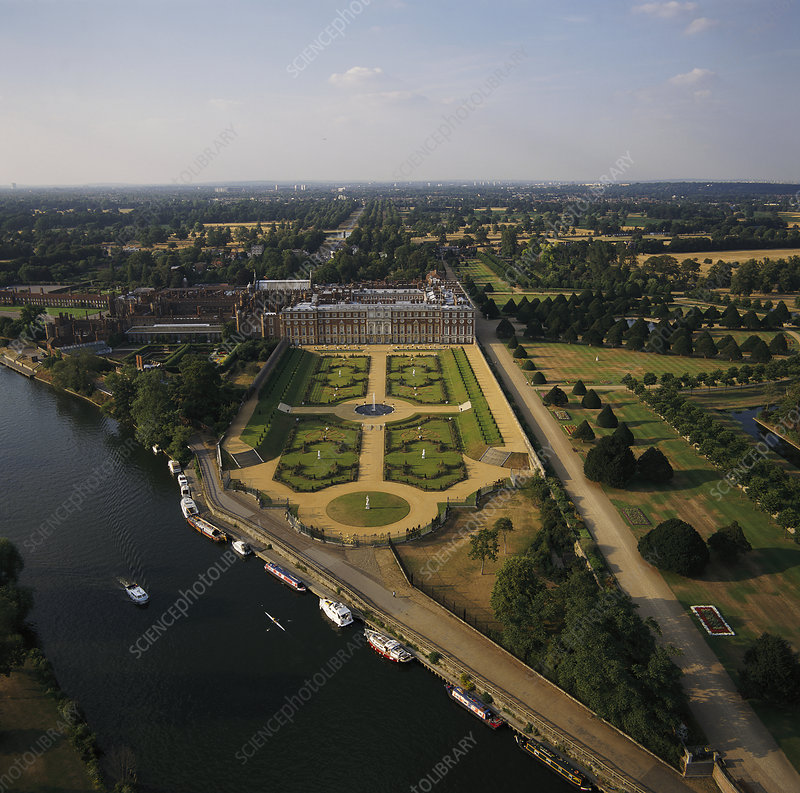 Hampton Court Palace and the Privy Garden