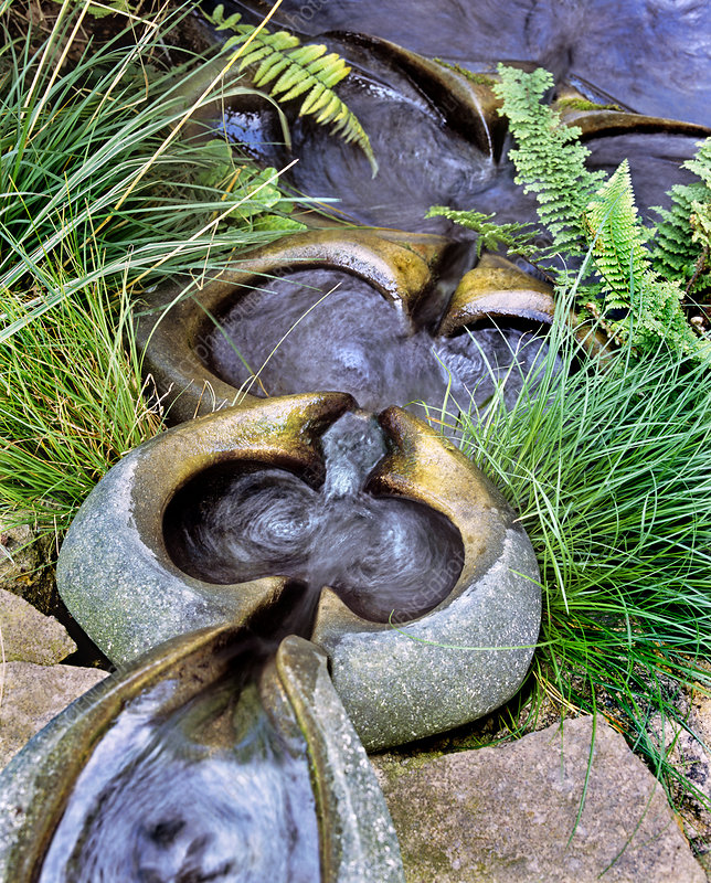 Flowform ornamental water feature