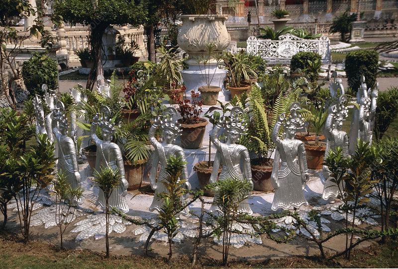 Statues, Jain Temple Garden, India