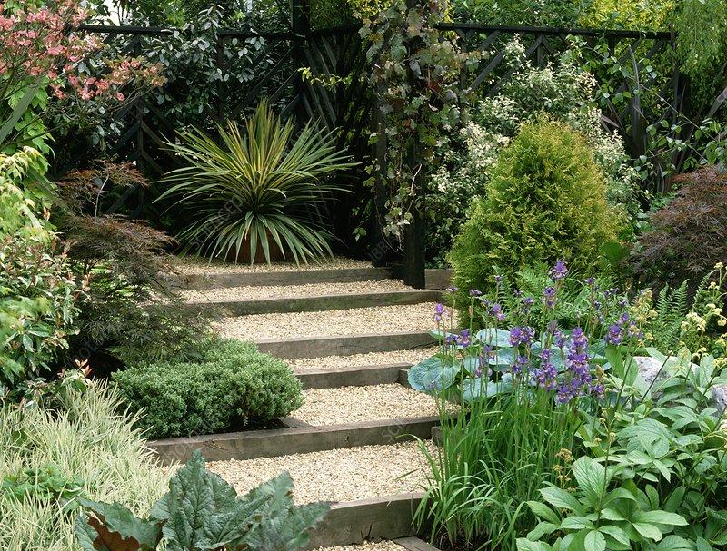 Gravel steps