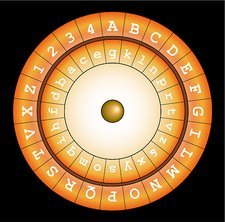 Alberti cipher disc, artwork