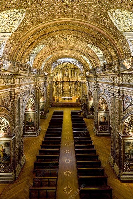 Church interior, Ecuador