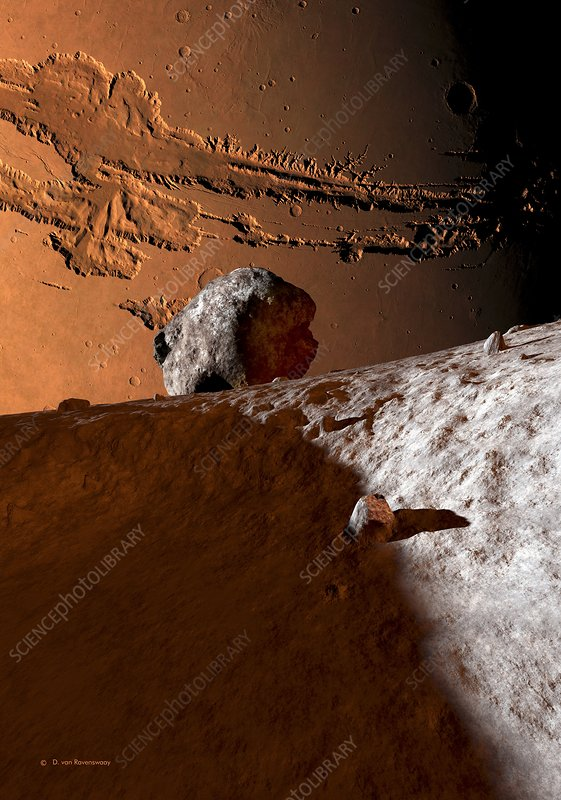 Mars as seen from Phobos, artwork
