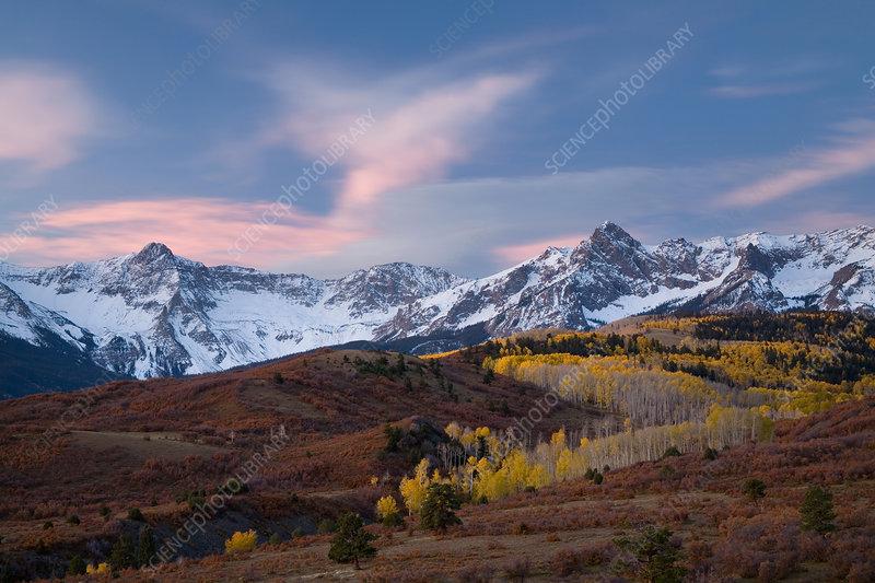 San Juan Mountains Sunrise, Colorado