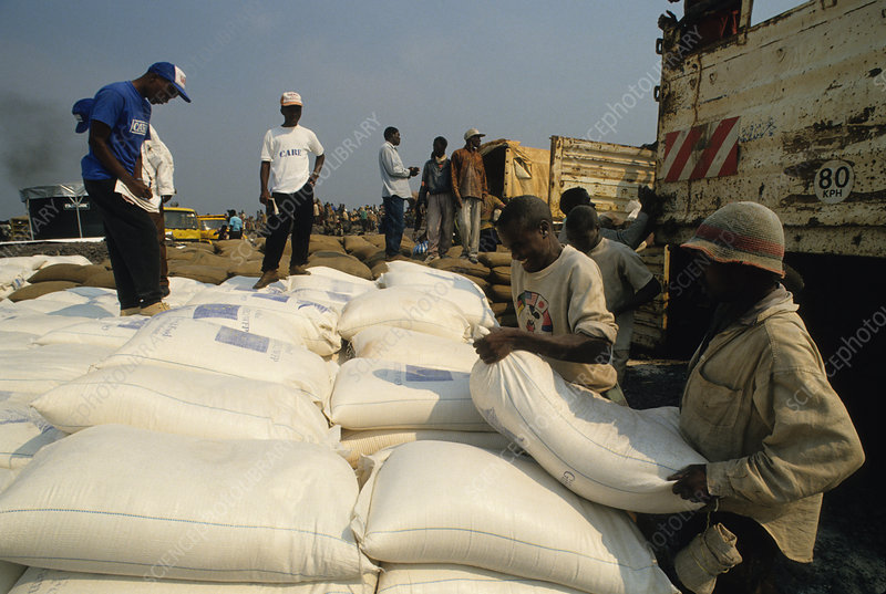 Corn Meal for Rwandan Refugees