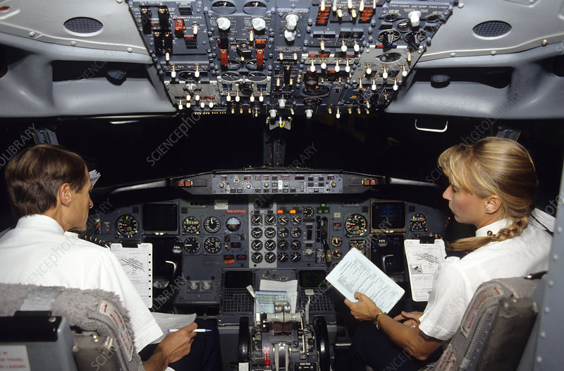 Pilot and Co-pilot in Boeing 737