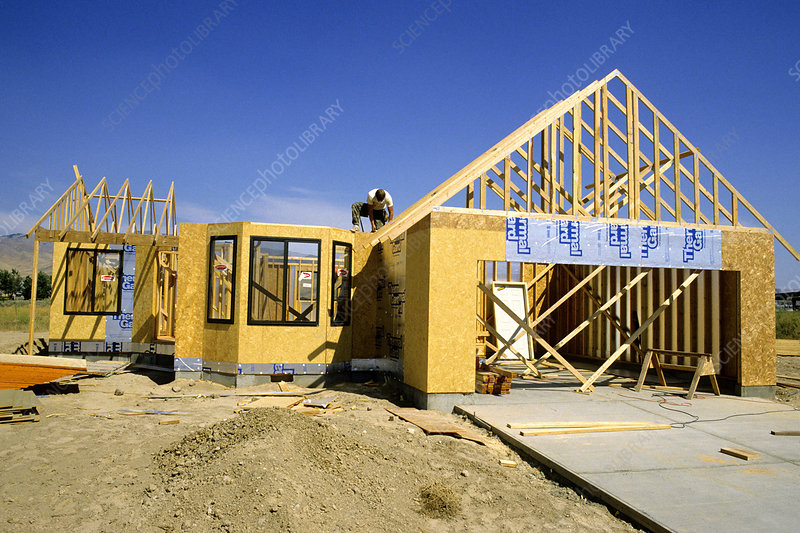 New Home Under Construction, Idaho