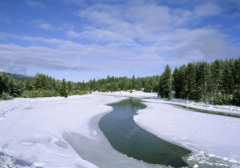 Payette River in Winter, Idaho