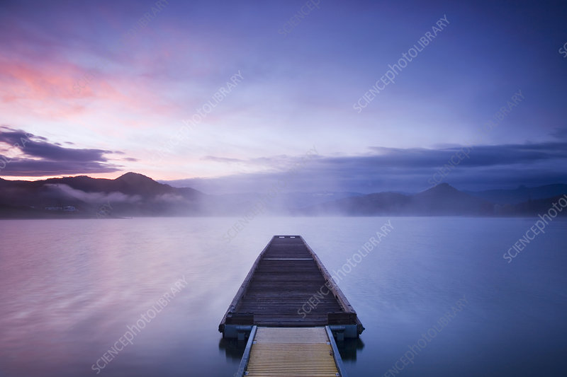 Dock at Sunrise, Oregon