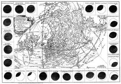 1748 solar eclipse, historical artwork