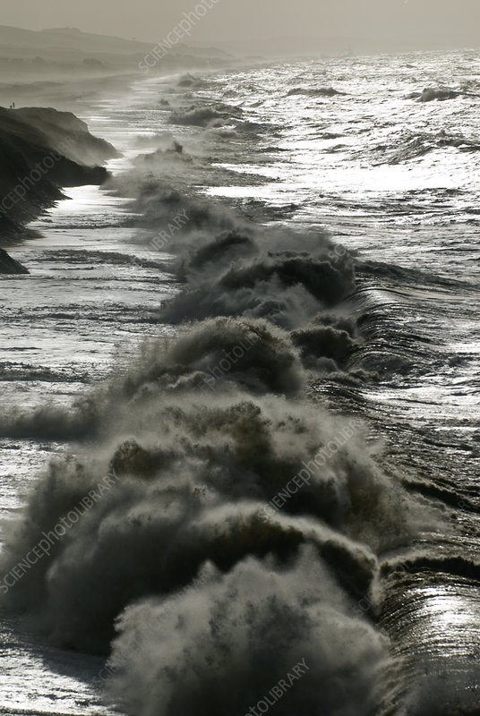 Storm waves, Dorset coast