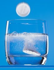 Effervescent tablets in water