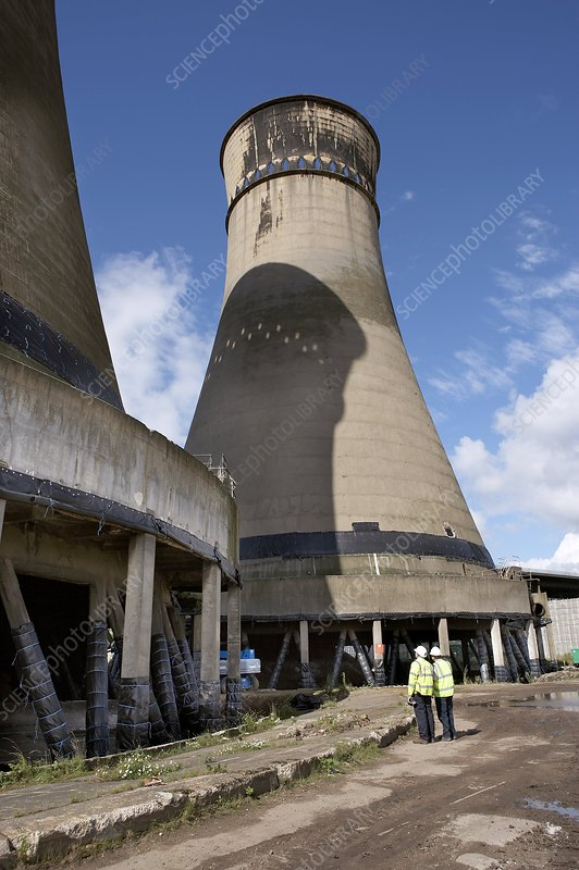 Cooling Tower Demolition : Tinsley cooling towers demolition stock image c