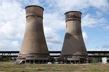 Tinsley cooling towers demolition