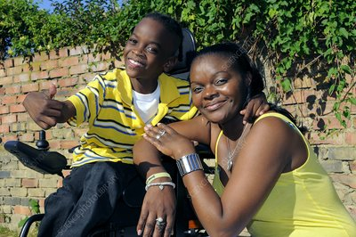 Cerebral palsy child and mother