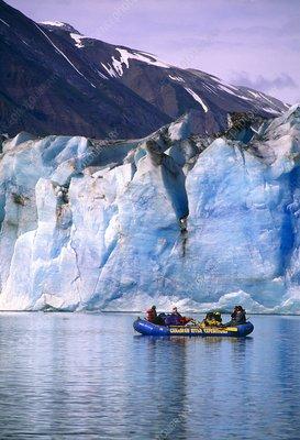 Rafting on Lowell lake, Canada