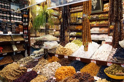 Fruit and nuts market stall, Istanbul