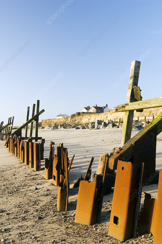 Failed sea defences, Norfolk
